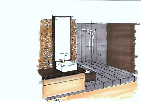 perspective salle de bain perspective salle de bains 2 001 photo de dessins h 233 lo 239 se desrumaux