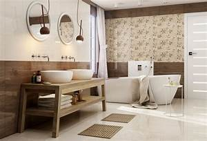 salle de bain beige idees de carrelage meubles et deco With deco de salle de bain carrelage