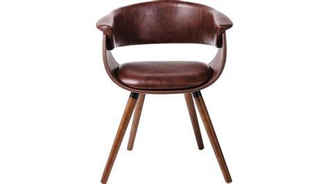 chaise cuir vintage achetez votre chaise simili cuir marron et bois vintage