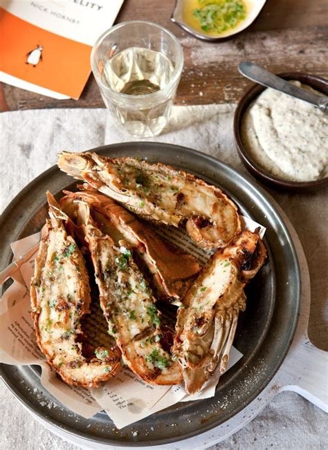 100% all natural wild caught! Garlic Butter Moreton Bay Bug Tails with Garlic and Walnut ...