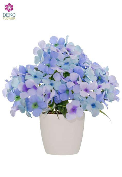 hortensien überwintern im topf k 252 nstliche hortensien im topf blau 29 cm