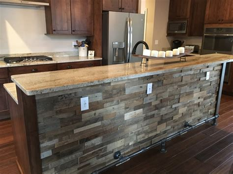 pre fab kitchen cabinets reclaimed barn wood stacked wall panels 4387