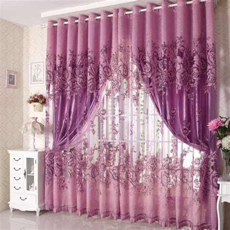 elegant purple curtains  bedroom atzinecom
