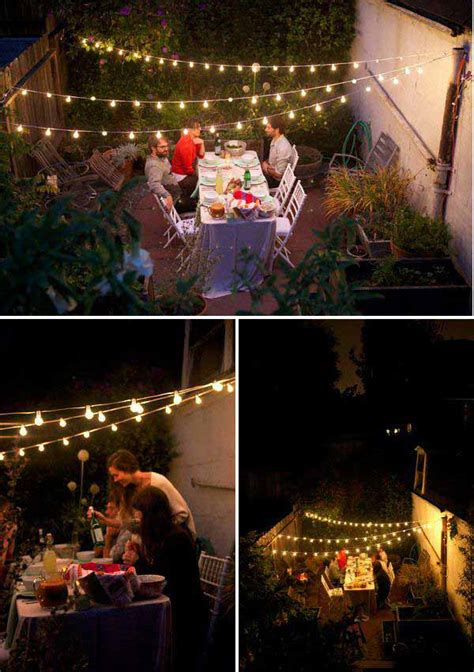 how to string lights outside 24 jaw dropping beautiful yard and patio string lighting