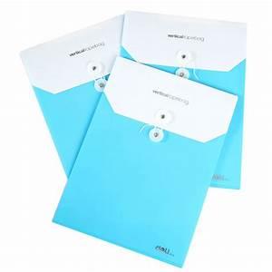 buy deli 5519 plastic document holder a4 button envelope With document envelope plastic