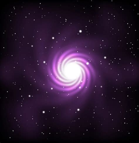 Purple Cosmos Abstract Vector Background