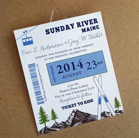 Ski Pass Mountain Wedding Skis And Gondola Lift Ticket