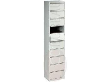 bureau gris metal dans meuble meuble à clapets metal 10 cases corps gris clapets gris