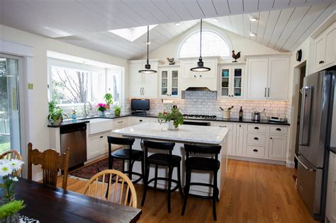 Over Island Kitchen Lighting - great vaulted ceiling kitchen callier and thompson