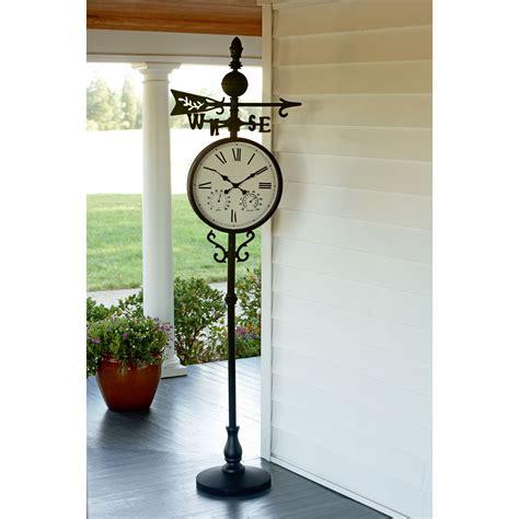garden oasis weather vane clock with temperature