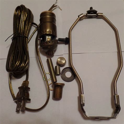 Table Lamp Wiring Kit Antique Finish Harp Way