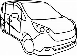 Minivan Outline Clip Art At Clker Com