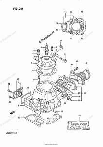 Suzuki Atv 1989 Oem Parts Diagram For Cylinder  Model J  K