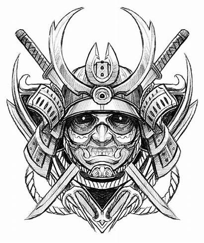 Tattoo Samurai Japanese Drawing Ghost Sketch Avatar
