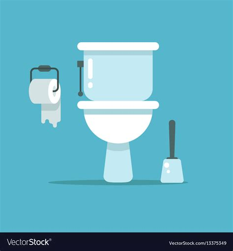 Toilet Bowl With Bidet by Washroom Toilet Bowl Bidet With With Toilet Vector Image