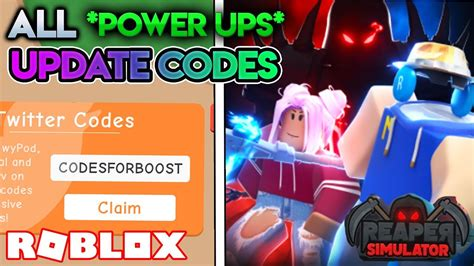We want you to enjoy your gaming experience to the fullest. ALL POWER-UPS! 🔋UPDATE WORKING CODES | Reaper Simulator (ROBLOX) - YouTube