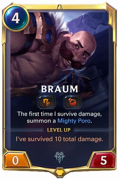 Braum Runeterra Legends Card Cards Lor Tracker