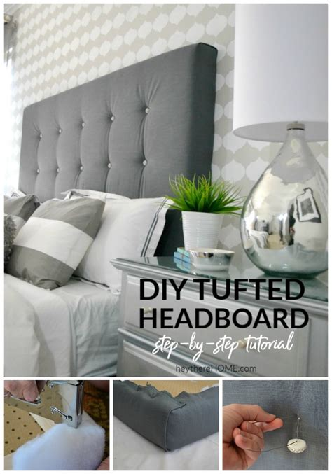 How To Make Your Own Tufted Headboard by Diy Upholstered Headboard With Tufting