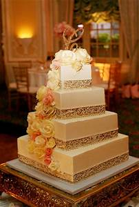 Square wedding cake. I love the shape and style of this ...