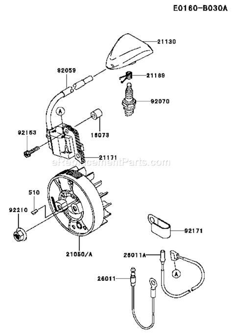 Kawasaki Trimmer Parts by Kawasaki Kgt27a As00 Parts List And Diagram A1