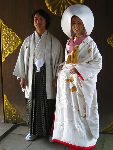 Traditional Japanese Wedding Suit by Japanese And Groom Dressed To Wed