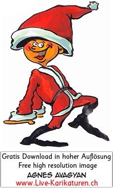 weihnachtself tanz junge riesenmuetze agnes