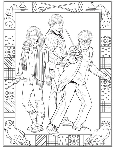 harry potter coloring pages  characters gianfredanet