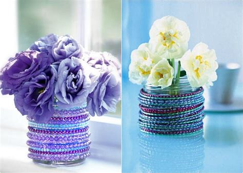 decorate  plain glass vase