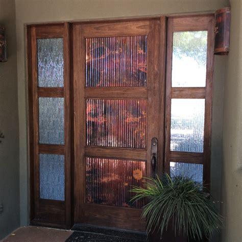 the copper door tacoma copper door corrugated copper door panels rustic