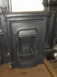 Original 1920's Cast Iron Bedroom Fireplace