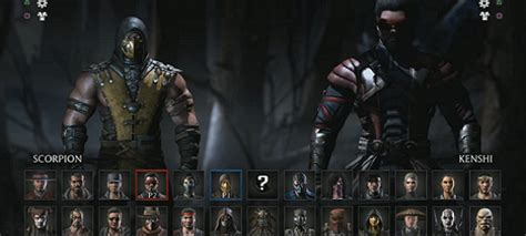 mortal kombat  characters skins selection revealed