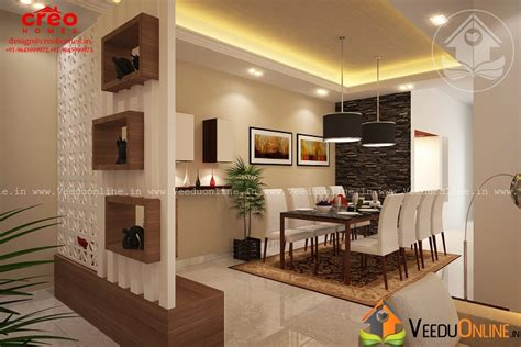 Home Interior Kerala Style : Fascinating Contemporary Budget Home Dining Interior Design