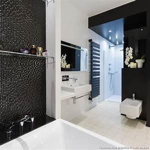 Chambre avec dressing et salle de bain with contemporain for Salle de bain design avec décoration cinéma maison