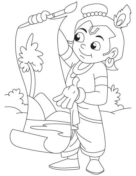 krishna littl coloring pages print coloring