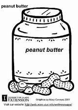 Peanut Butter Coloring Colorear Para Crema Cacahuete Dibujo Peanuts Coloriage Printable Beurre Characters Nourriture Worksheets Edupics sketch template