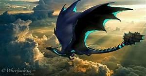 Blue wings black dragon of the dark nights | Dragons club ...