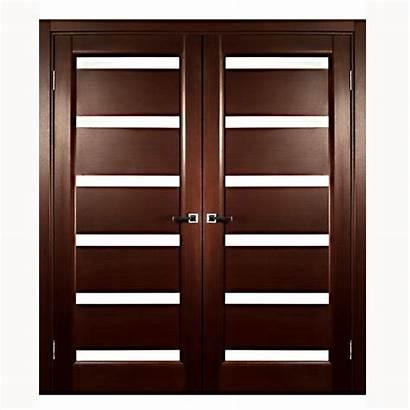 Double Interior Glass Door Modern Doors Brown
