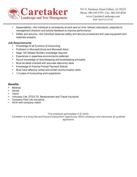 now hiring accounts payable specialist caretaker
