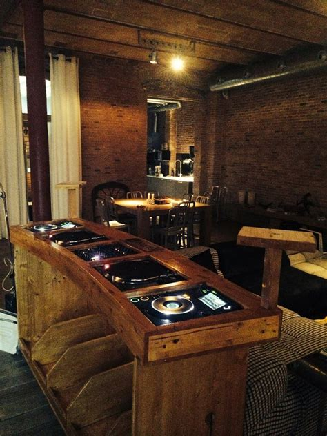wooden dj table bespoke dj booth cool with wood