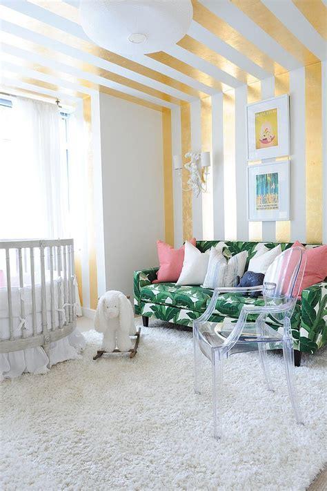 chic nursery ideas    adore striped walls