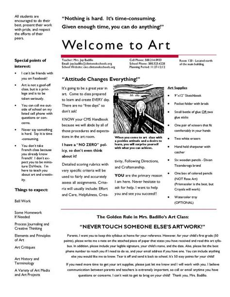 middle school syllabus template best 25 middle school ideas on