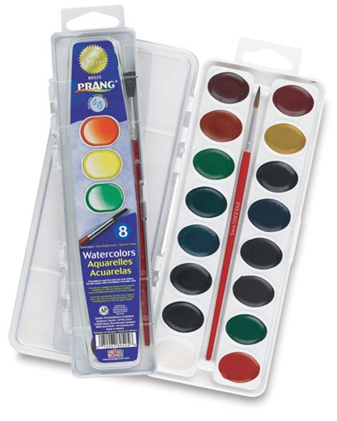 water color set prang washable watercolor pan sets blick materials