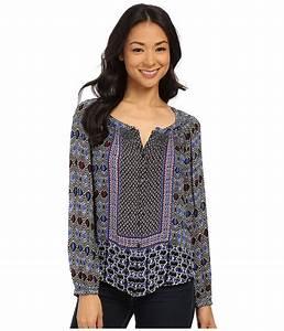 UPC 803049754428 - Lucky Brand - Gypsy Ikat Top (Blue ...