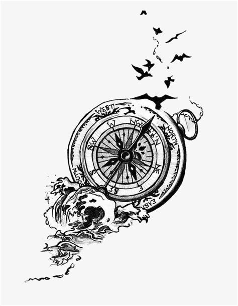 Compass, Hand Painted Cartoon, Hand Painted PNG Transparent Clipart Image and PSD File for Free