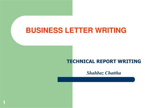 business letter writing powerpoint  id