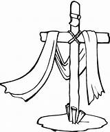Cross Friday Jesus Cartoon Clip Clipart Cliparts Drawings Coloring Pages Three Library sketch template
