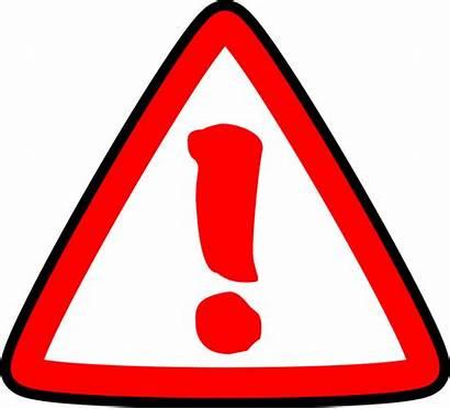 Clipart Caution Clip Cliparts Sign Library Error
