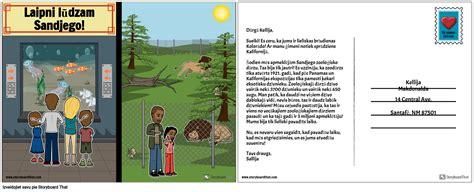 Kalifornijas Pastkarte Storyboard by lv-examples