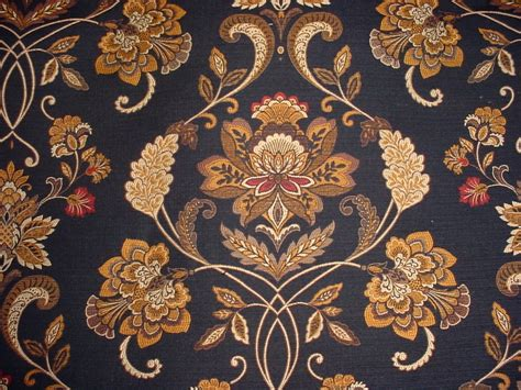 Brocade Upholstery Fabric - 1 y luxury floral brocade tapestry upholstery fabric