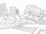 Tsunami Printable Submerged sketch template